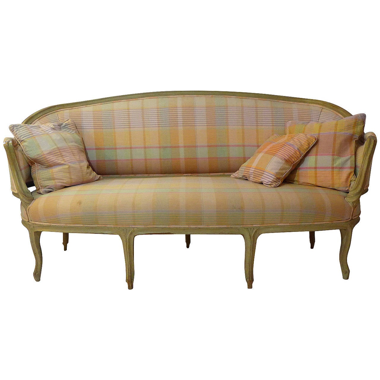 A french 19th century louis xv canape at 1stdibs for Canape louis 15