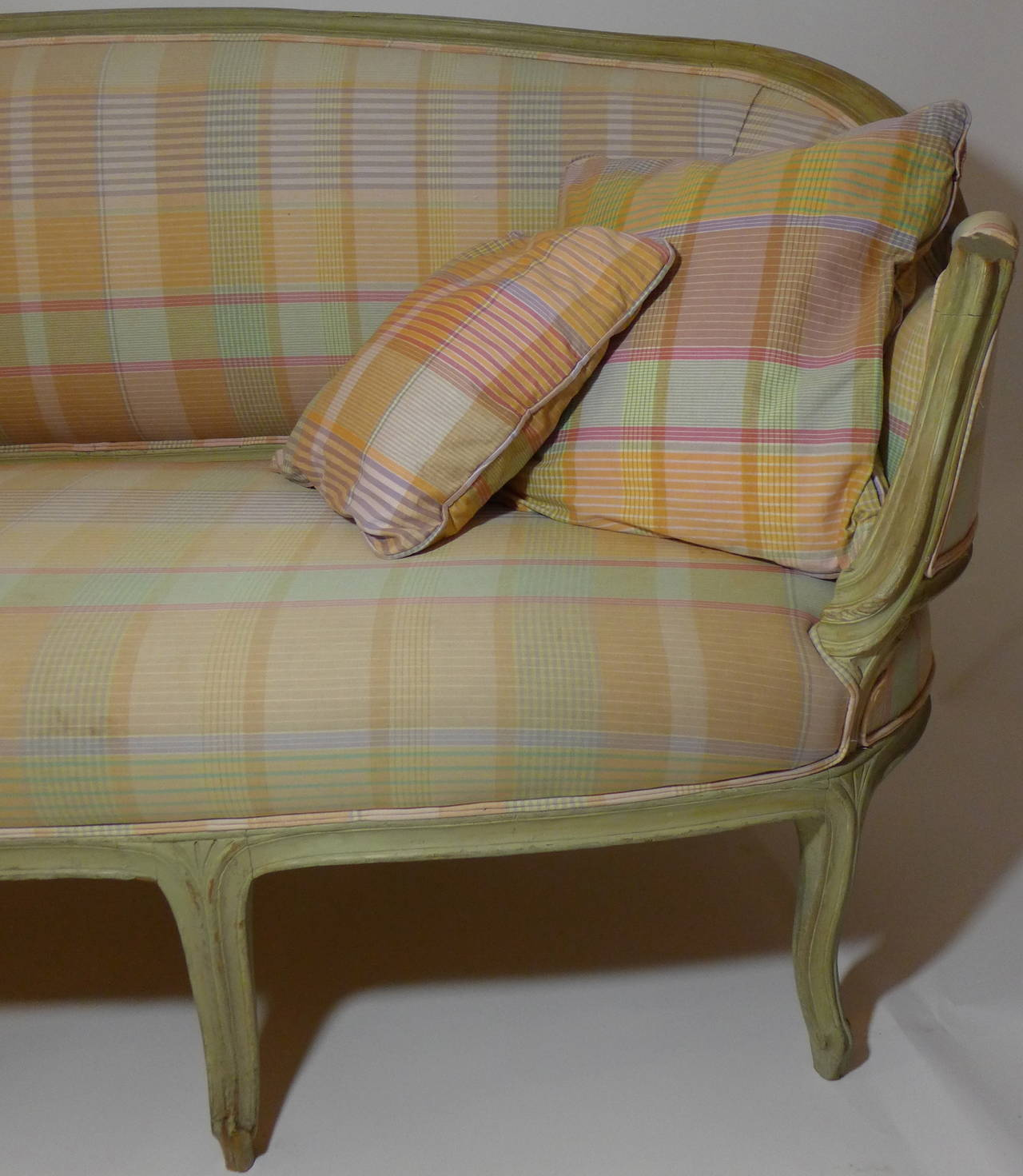 Fabric French 19th Century Louis XV Canape For Sale