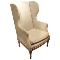 19th Century, French Wing Armchair