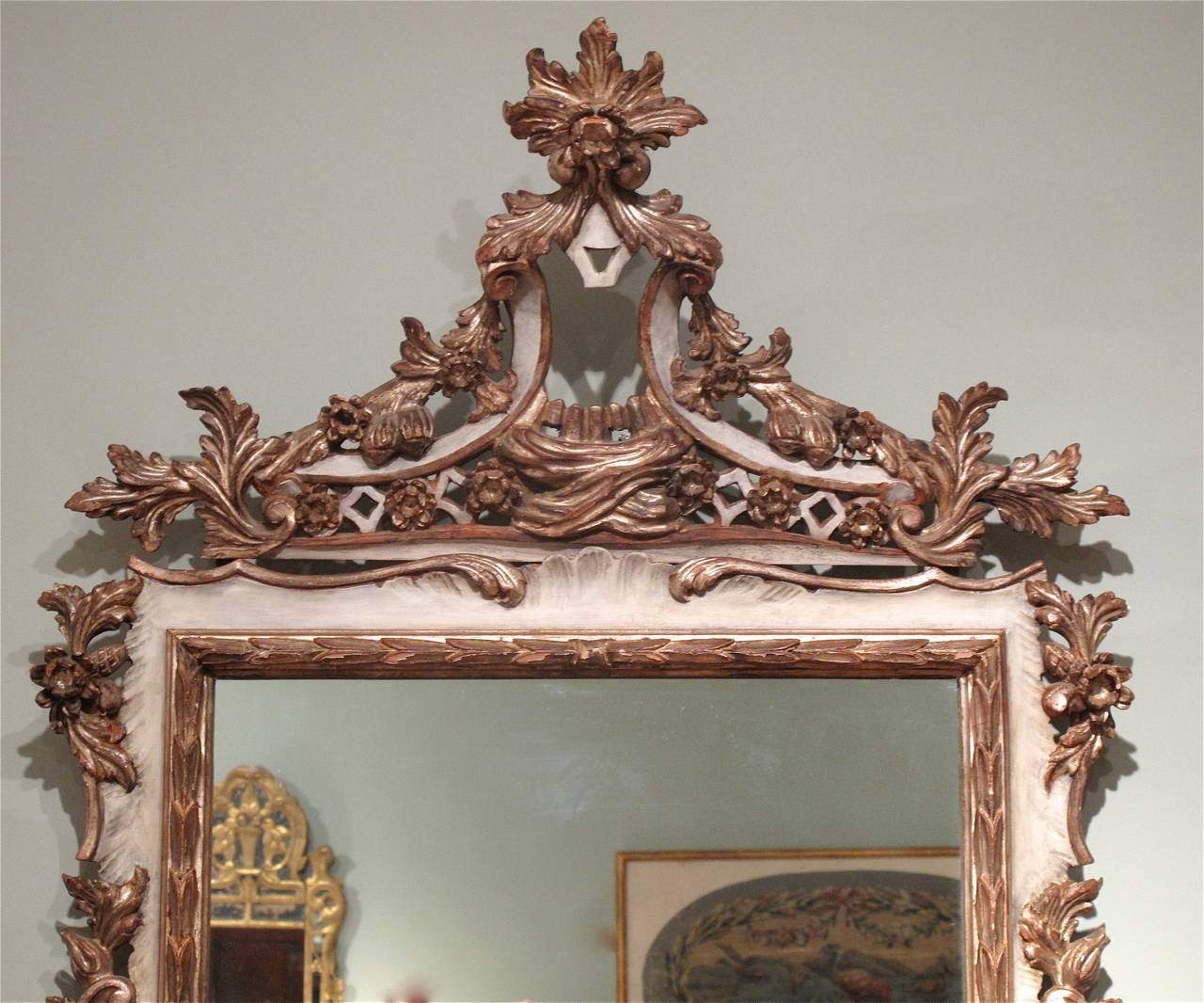 vigina hair styles italian rococo style painted and silver gilt mirror at 1stdibs 3627