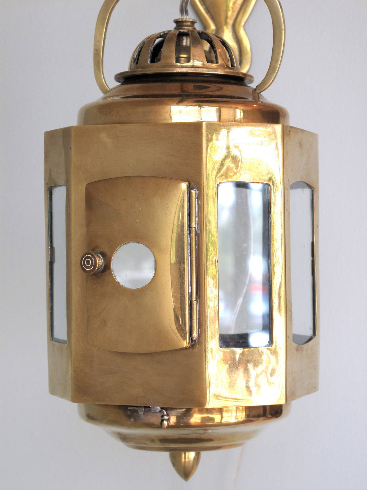British Colonial Brass Lantern Wall Sconce at 1stdibs