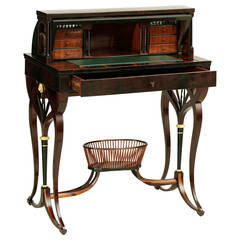 Empire Writing Desk by Johann Reimann, Vienna, Dated 1803