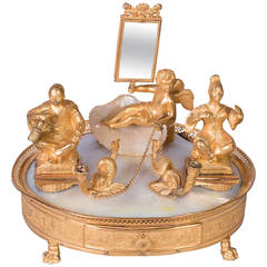 French Inkstand with Musical Mechanism