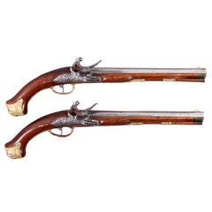 Pair of Pomp Flintlock Pistols