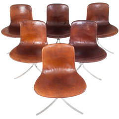 Poul Kjaerholm Set of Six PK 9 Dining Chairs for E. Kold Christensen