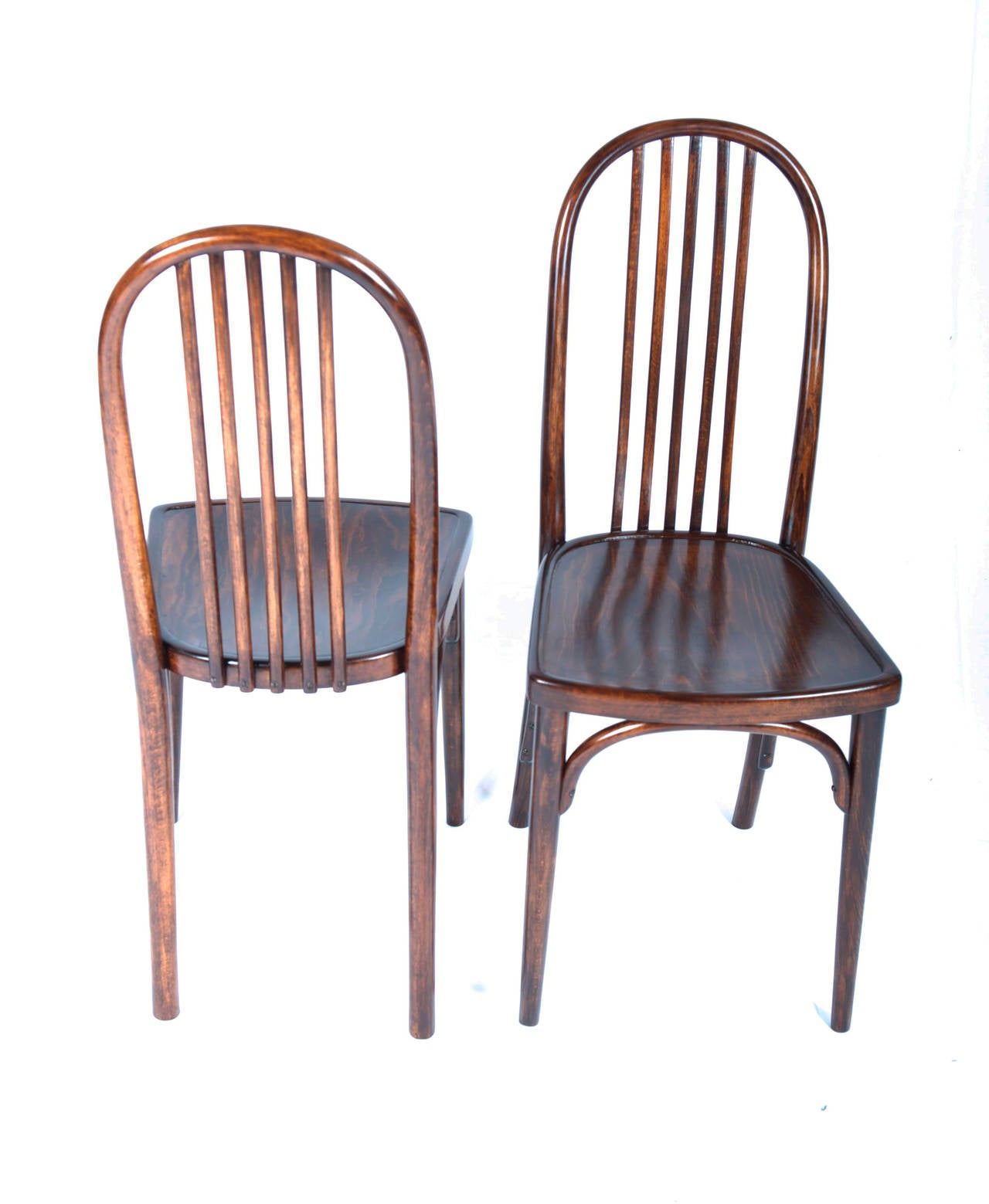 Set Of 6 Thonet Chairs No. 644 Designed By Josef Hoffmann 3