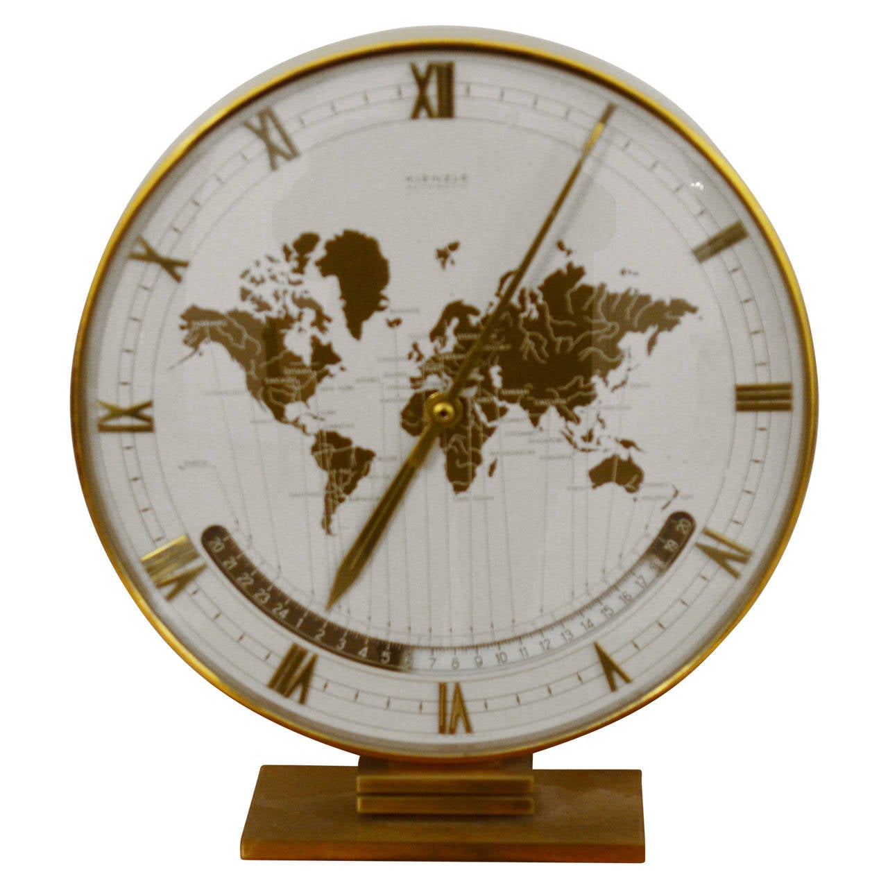 Big kienzle weltzeituhr modernist table world timer zone clock big kienzle weltzeituhr modernist table world timer zone clock 1960s for sale gumiabroncs Choice Image