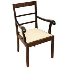 art deco macassar ebony desk chair art deco office chair