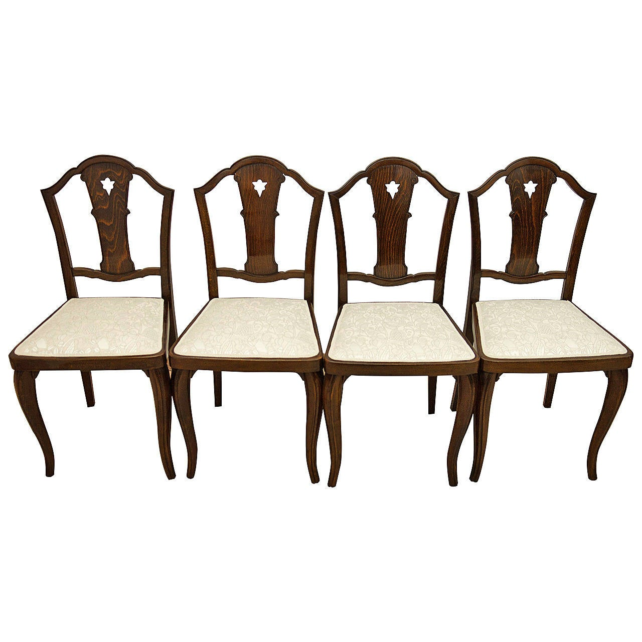 Set of Four Thonet Chairs Attributed to Otto Prutscher For Sale