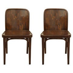 Pair of Thonet No. 811 Chairs Attributed to Josef Hoffmann
