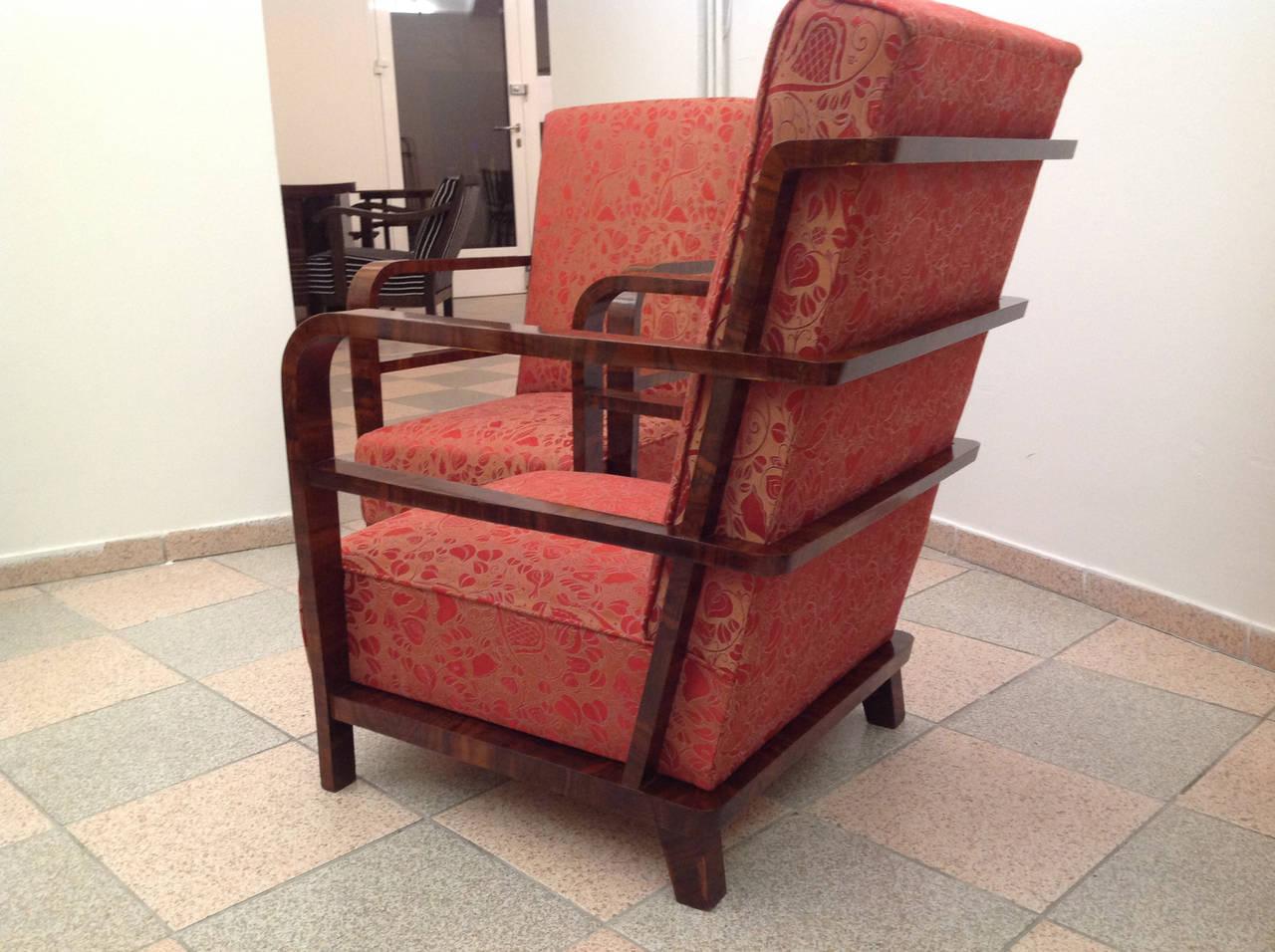 Pair of Art Deco Armchairs, circa 1930 In Excellent Condition For Sale In Vienna, AT