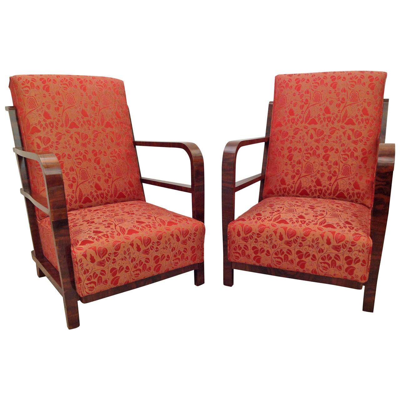 Pair of Art Deco Armchairs, circa 1930