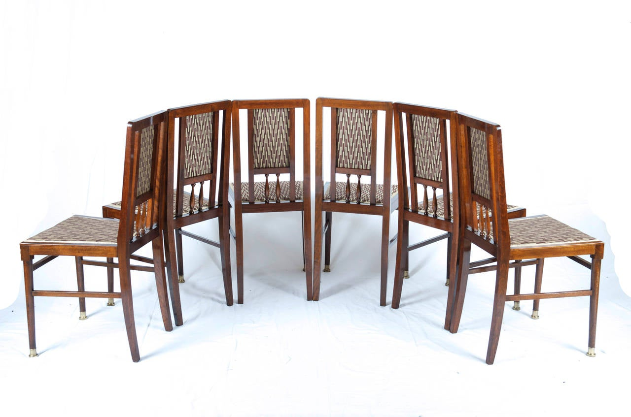 Set of Six Art Nouveau Dining Room Chairs at 1stdibs