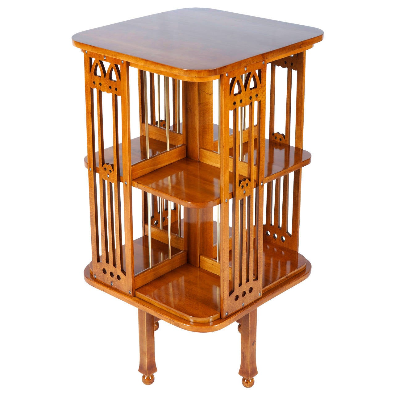 Very Rare Thonet Revolving Bookcase Attributed To Josef Hoffmann 1