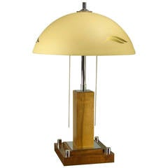 Art Deco Table, Desk Lamp