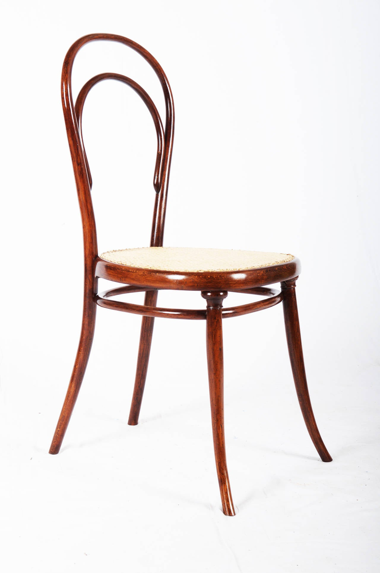 Thonet Bentwood Side Chair No 14 With First Paper Label For Sale At 1stdibs