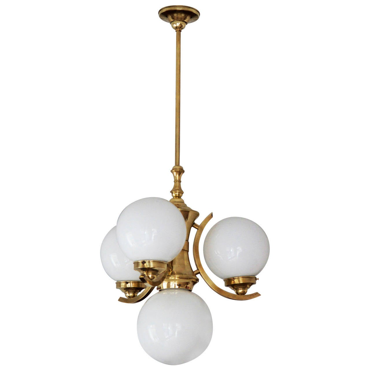 Art deco ball chandelier circa 1930s at 1stdibs - Lighting and chandeliers ...