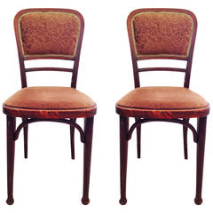 Pair of Rare Thonet 492 Chairs attributed to Gustav Siegel