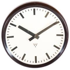 Large Bakelite Industrial, Train Station Wall Clock