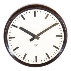 Large Bakelite Factory Industrial, Train Station Wall Clock