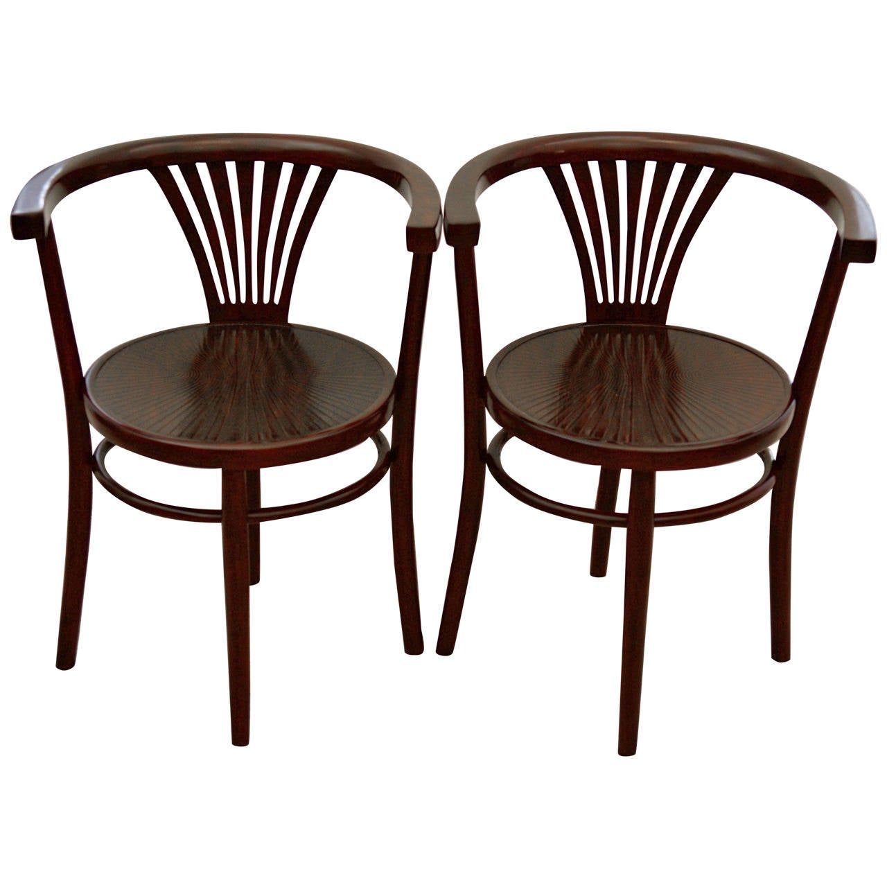Pair of Thonet Armchairs For Sale