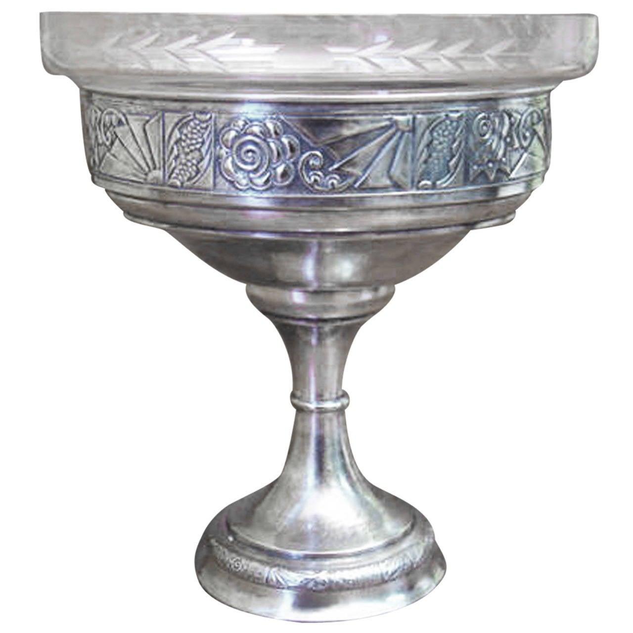 Art Nouveau WMF Bowl with Glass Insert