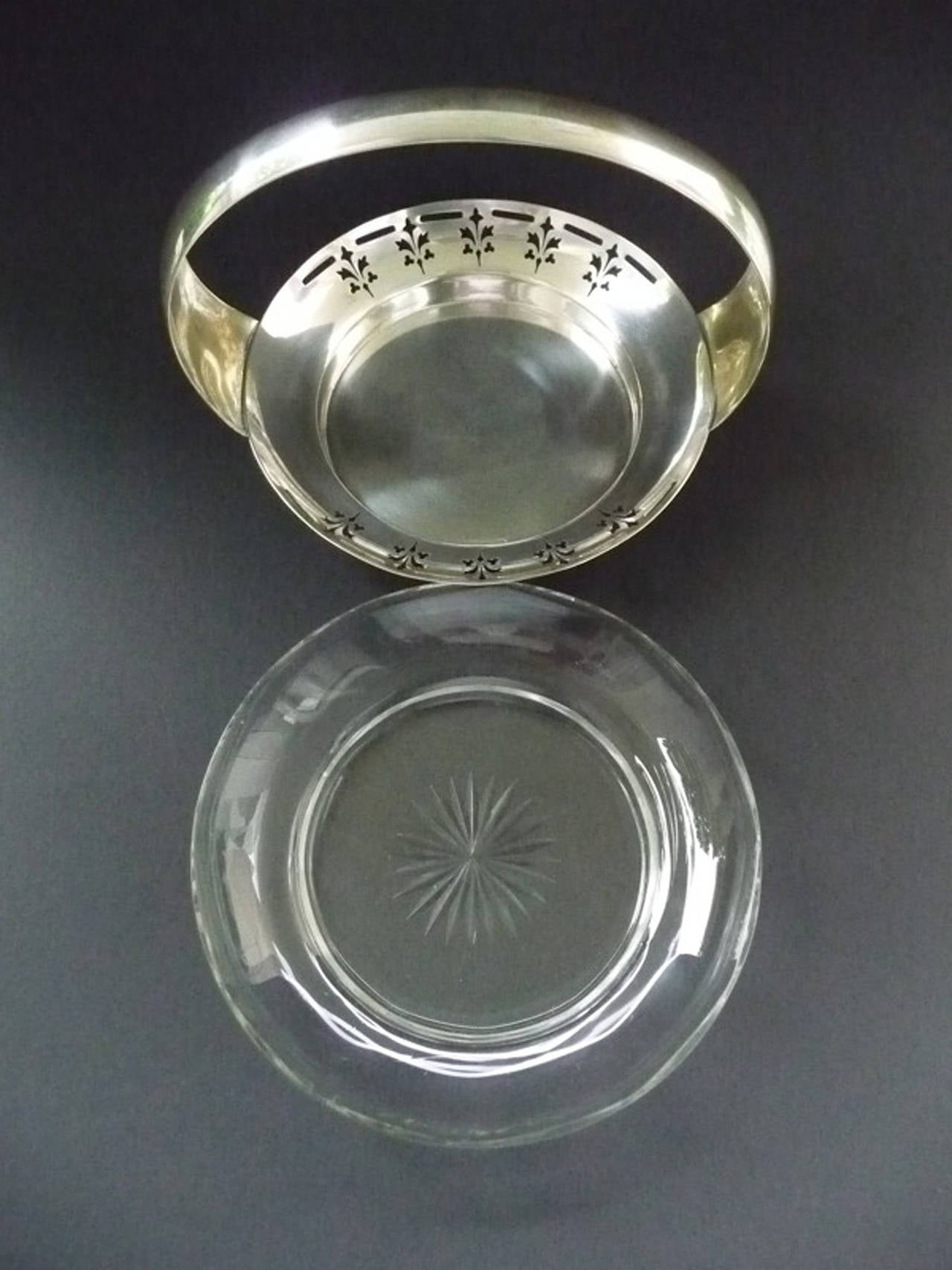 Silver Plate Vienna Secession Argentor Jardiniere For Sale