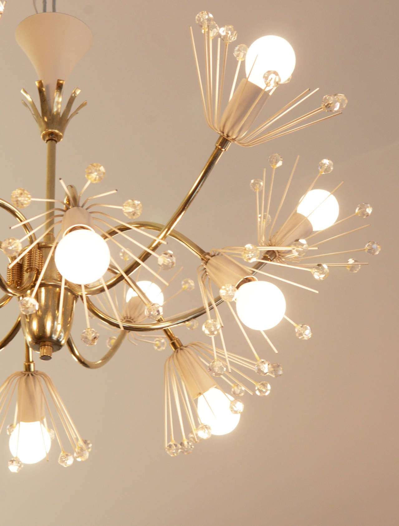 Mid-20th Century Large Snowflakes Chandelier by Emil Stejnar for Rupert Nikoll Vienna For Sale