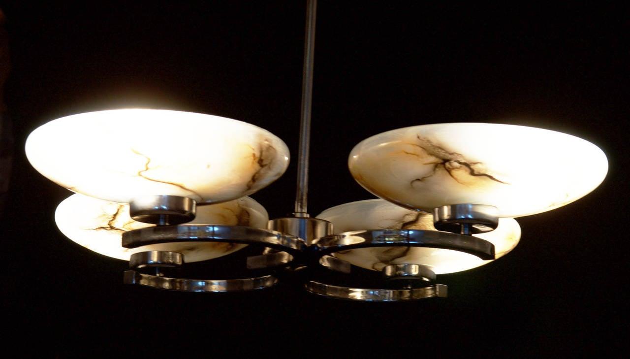 Art Deco Pendant Chandelier For Sale 3