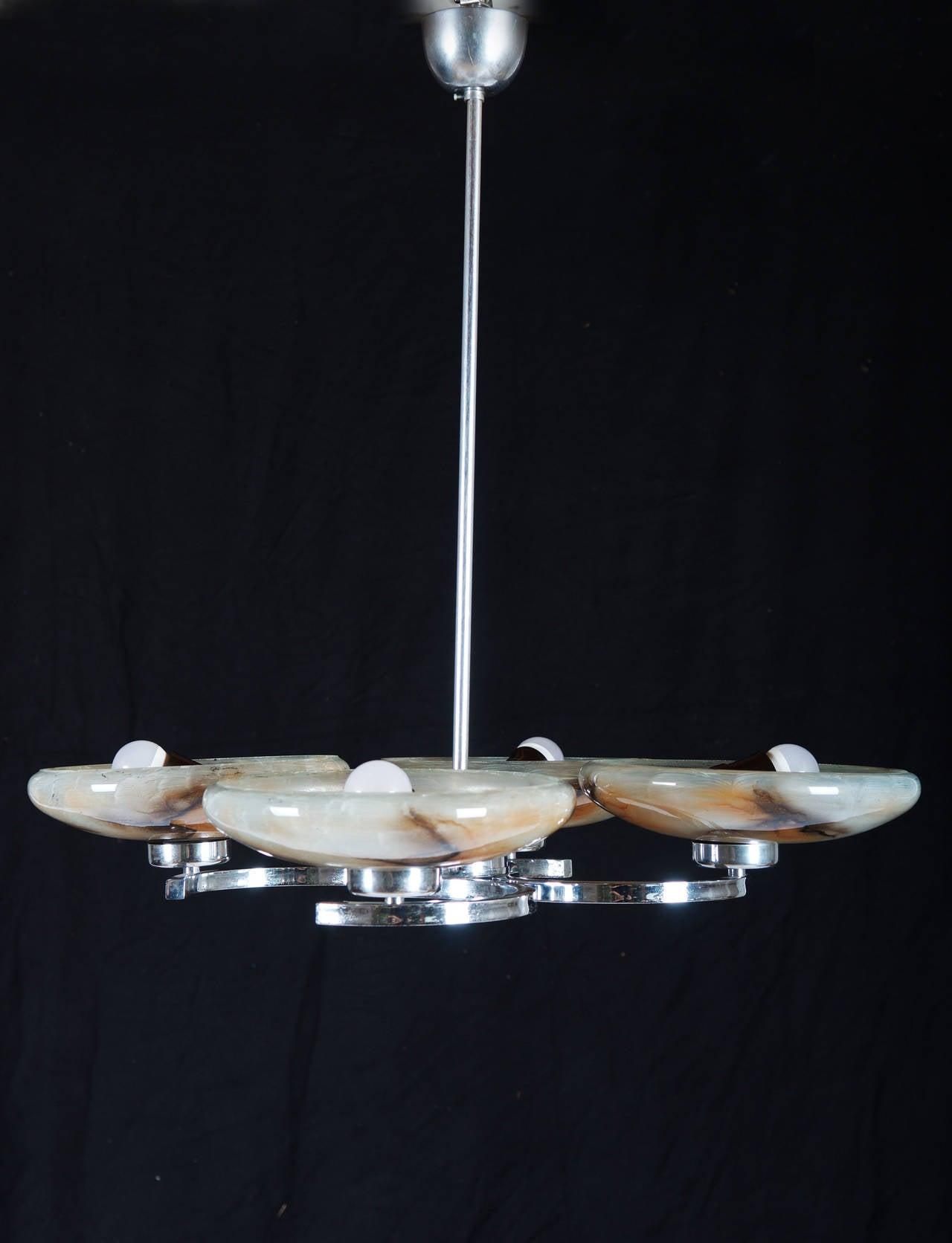 Art Deco Pendant Chandelier For Sale 2