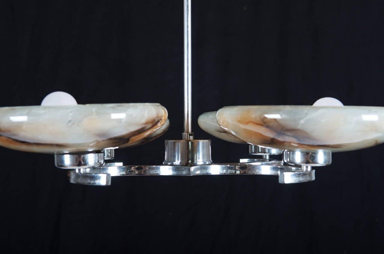 Austrian Art Deco Pendant Chandelier For Sale