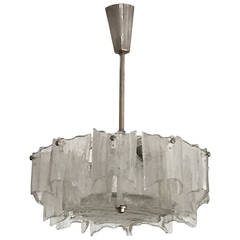 Kalmar of Austria Ice Glass Chandelier