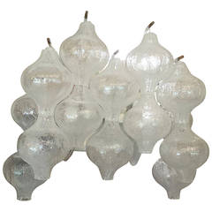 Tulipan Glass Wall Lamp by J.T. Kalmar Austria