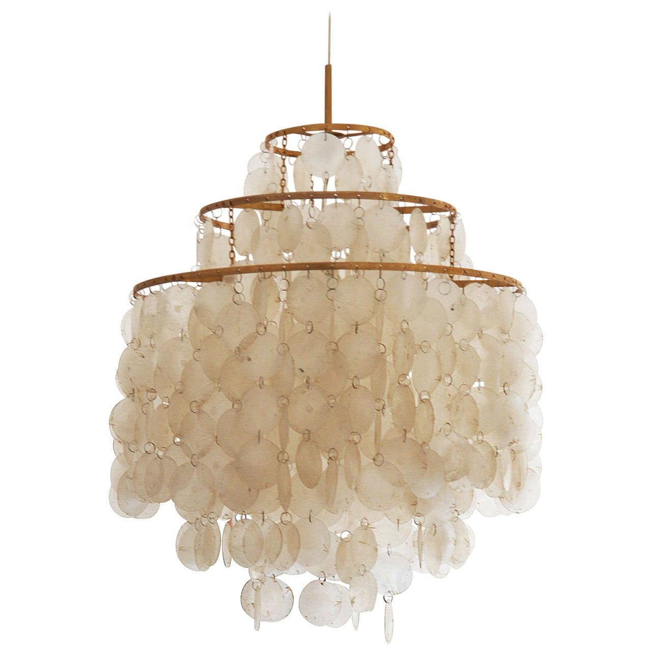 products linear chandeliers shell modern shades capiz chandelier satin of nickel light