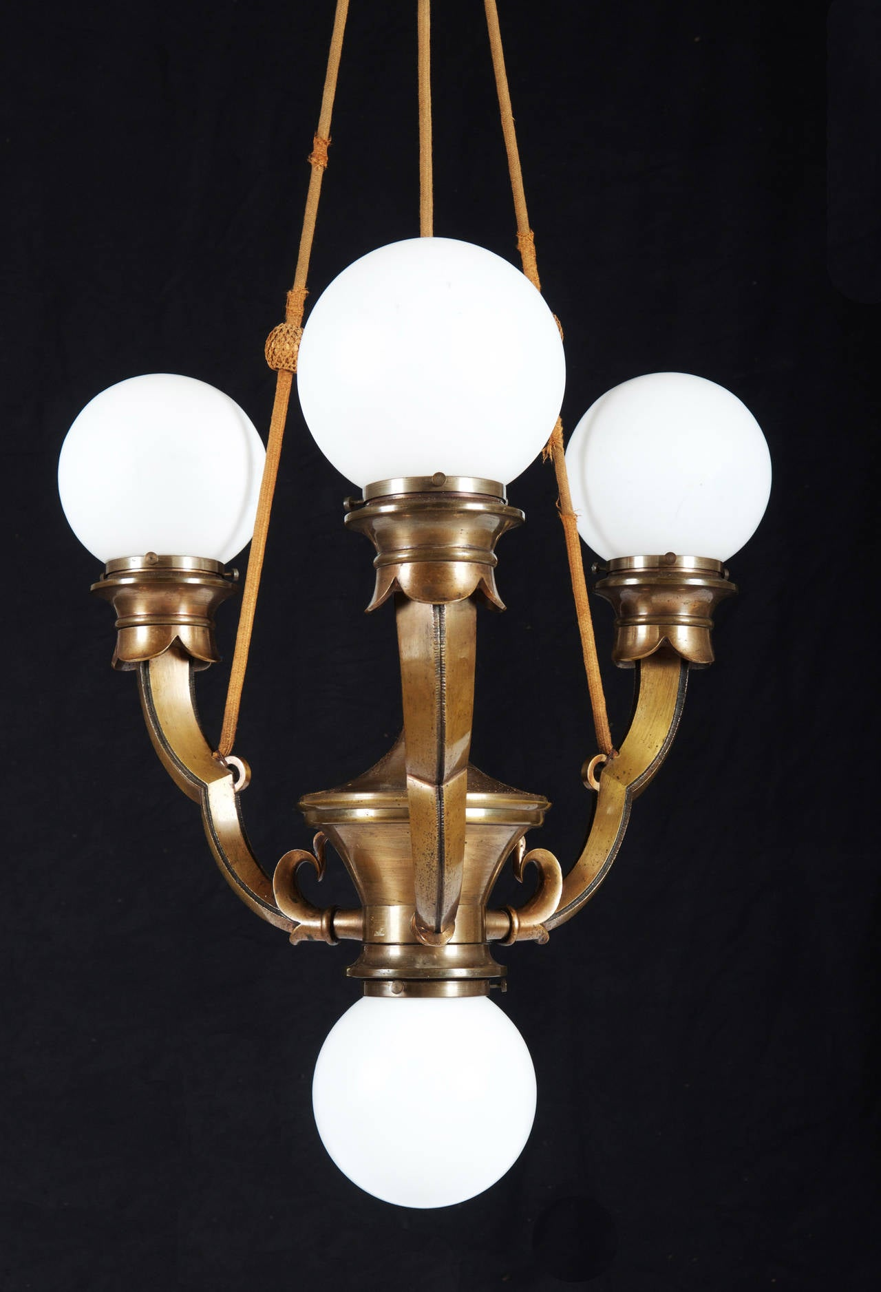 Art Deco Foyer Lighting : Large art deco cubistic chandelier for sale at stdibs