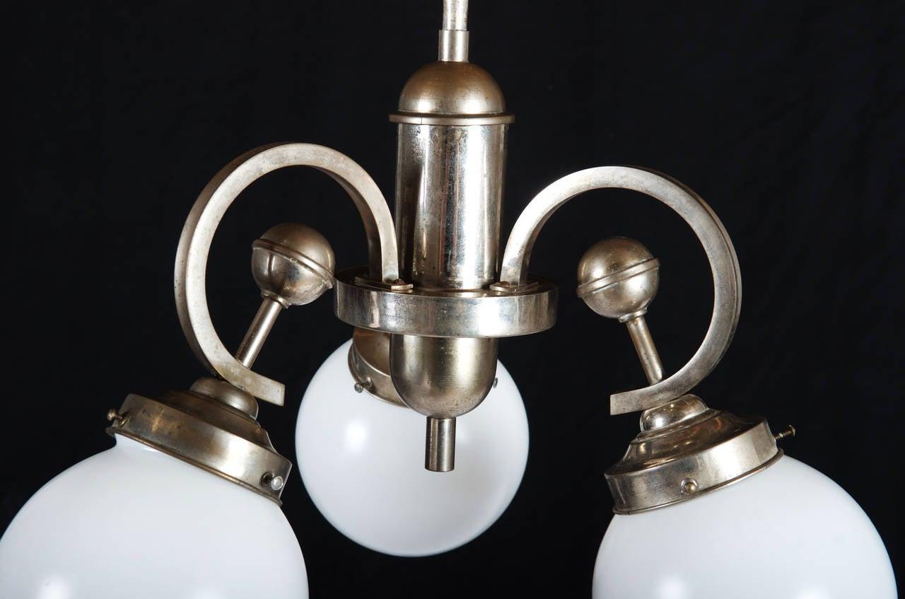 Mid-20th Century Art Deco Pendant Chandelier For Sale
