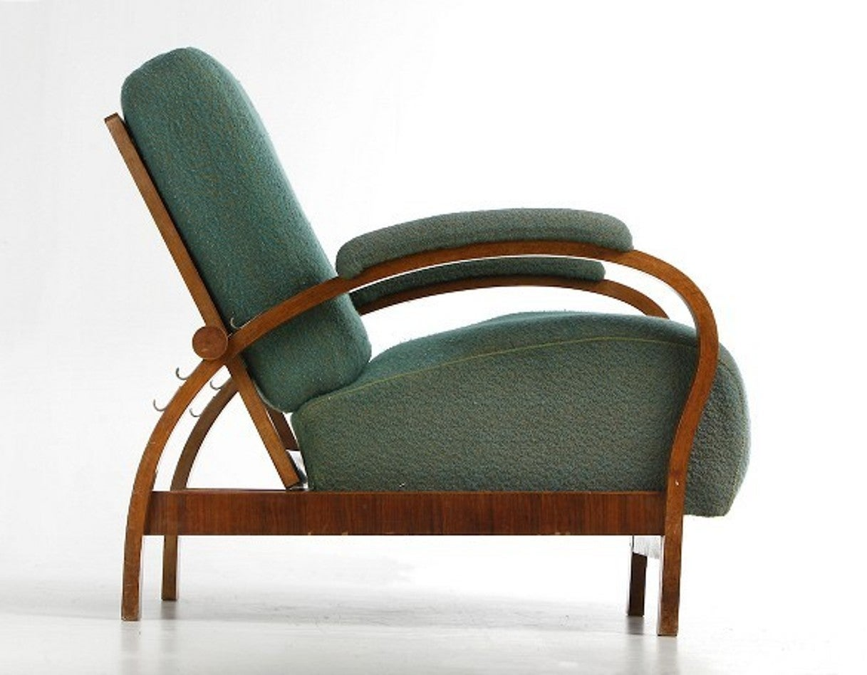 Art Deco Armchair with Adjustable Backrest For Sale at 1stdibs