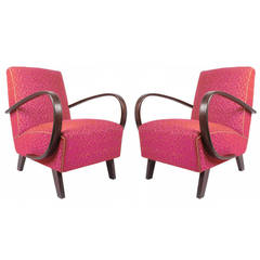 Pair of Art Deco Armchairs, circa 1930 by Jindrich Halabala