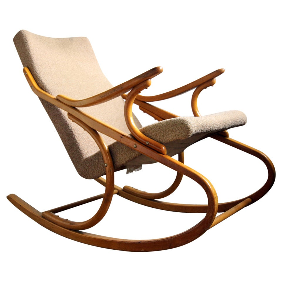 midcentury rocking chair for sale at 1stdibs. Black Bedroom Furniture Sets. Home Design Ideas