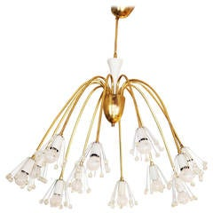 Midcentury Modernist Chandelier by Emil Stejnar for Rupert Nikoll