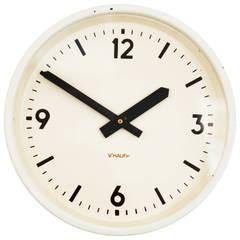 Schauer Industrial or Station Clock, Vienna, 1964