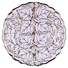 Meissen Plate, Leaves Motif