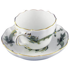 "Meissen Cup with ""Green Dragon"""