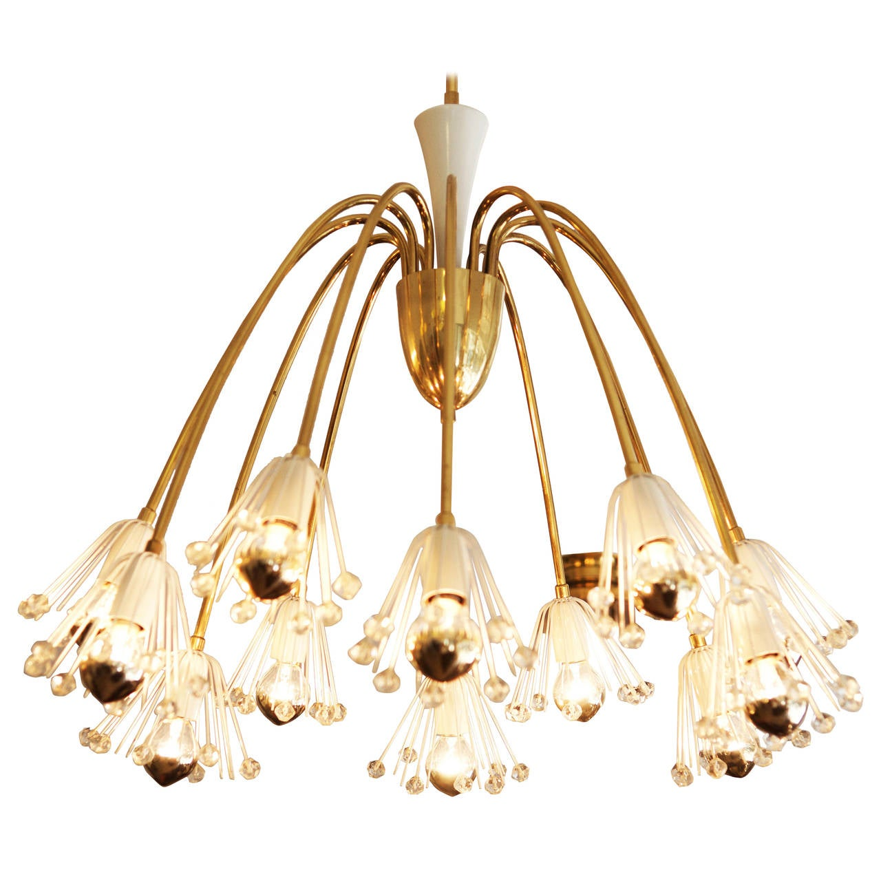 Large Brass Chandelier By Emil Stejnar For Rupert Nikoll