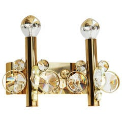 Impressive Cut Crystal Wall Sconce Attributed to Gaetano Sciolari