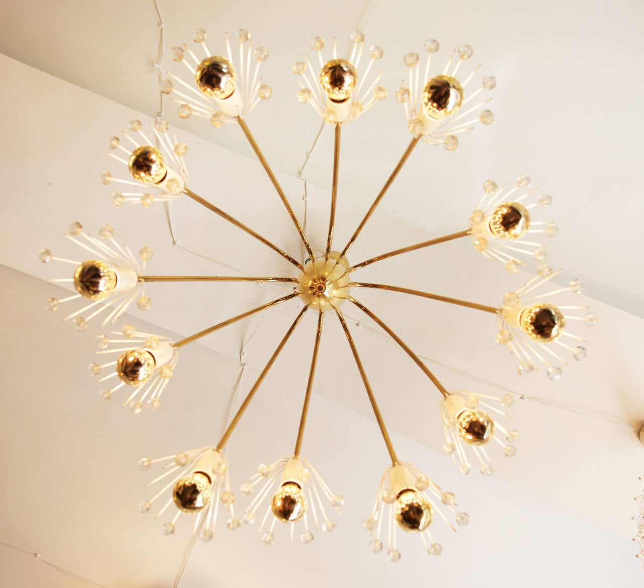 Large Brass Chandelier By Emil Stejnar For Rupert Nikoll In Excellent Condition For Sale In Vienna, AT