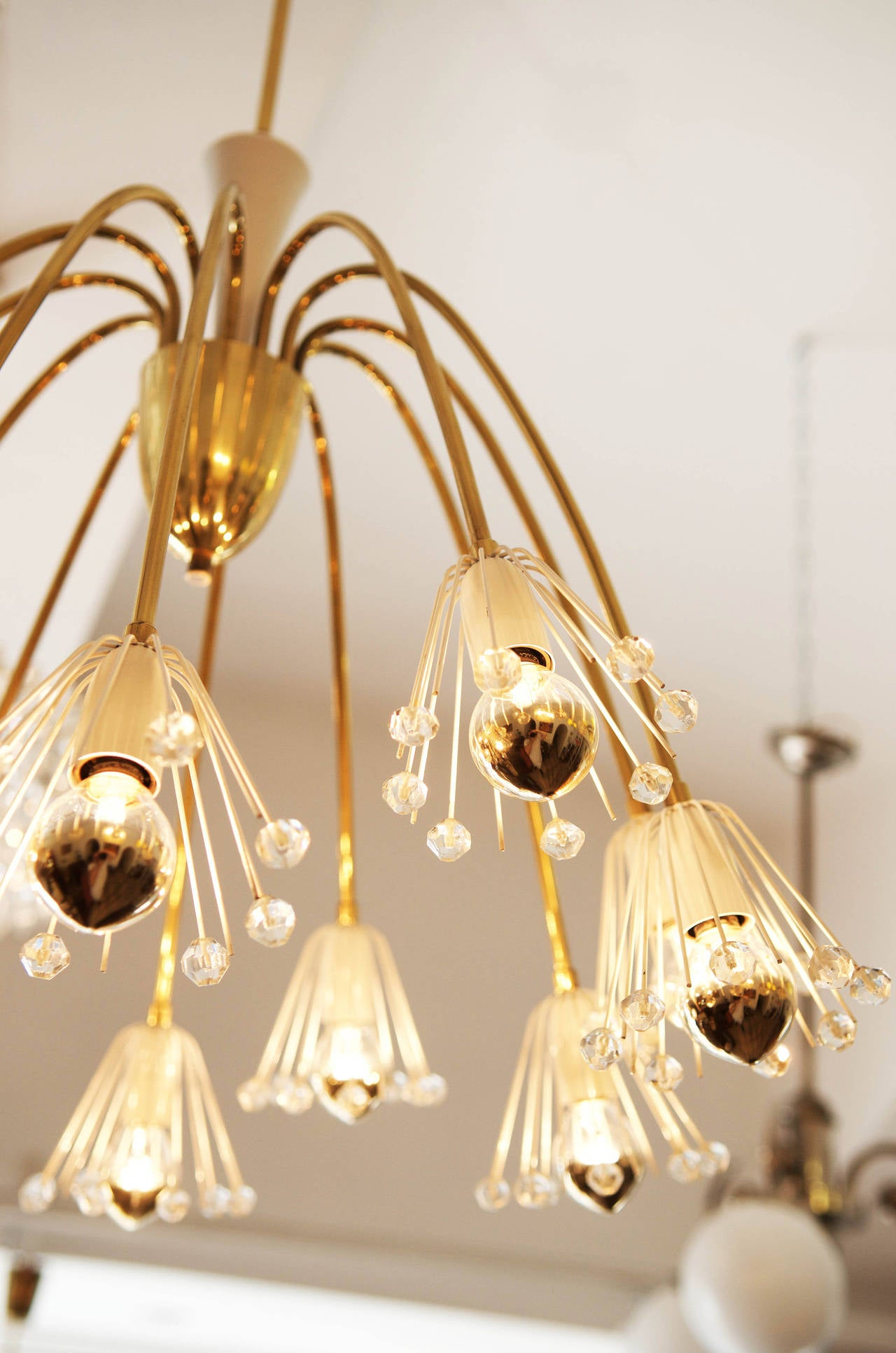 Mid Century Modernist chandelier by Emil Stejnar for Rupert Nikoll