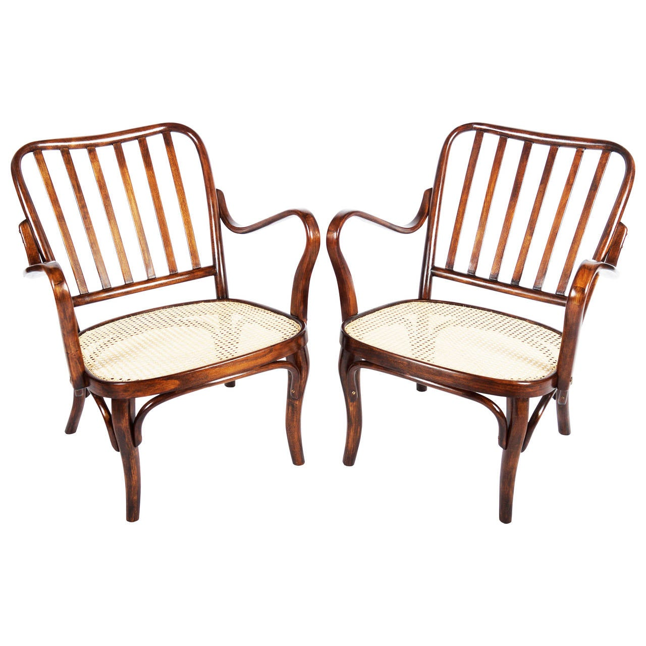 Thonet Armchairs No. 752 by Josef Frank