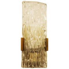 Kalmar of Austria Ice Glass Wall Sconce