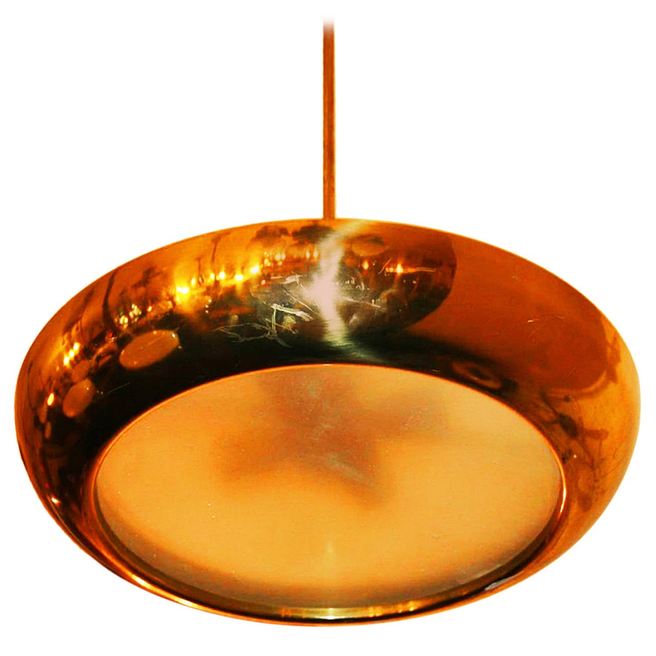 Bauhaus Functionalism Copper Pendant by Josef Hurka for Napako For Sale